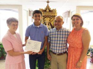 Daniel Infante, 2016 Scholarship Winner