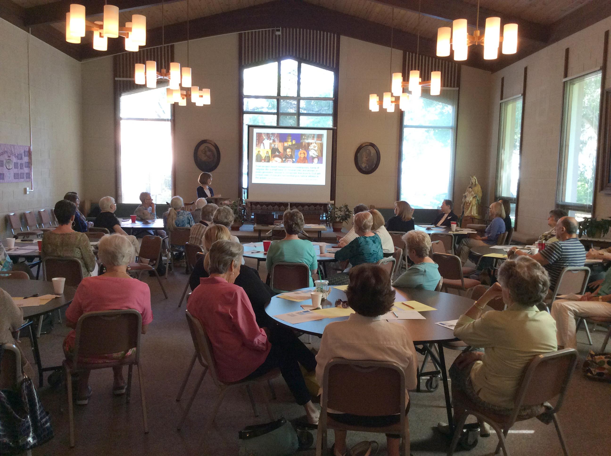Associate meeting in John England Hall.